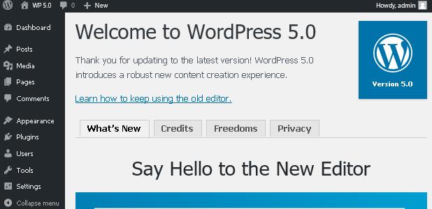 WordPress 5.0 е тук с новия редактор Gutenberg