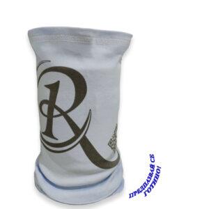 Брандана лого и QR код нежносиньо